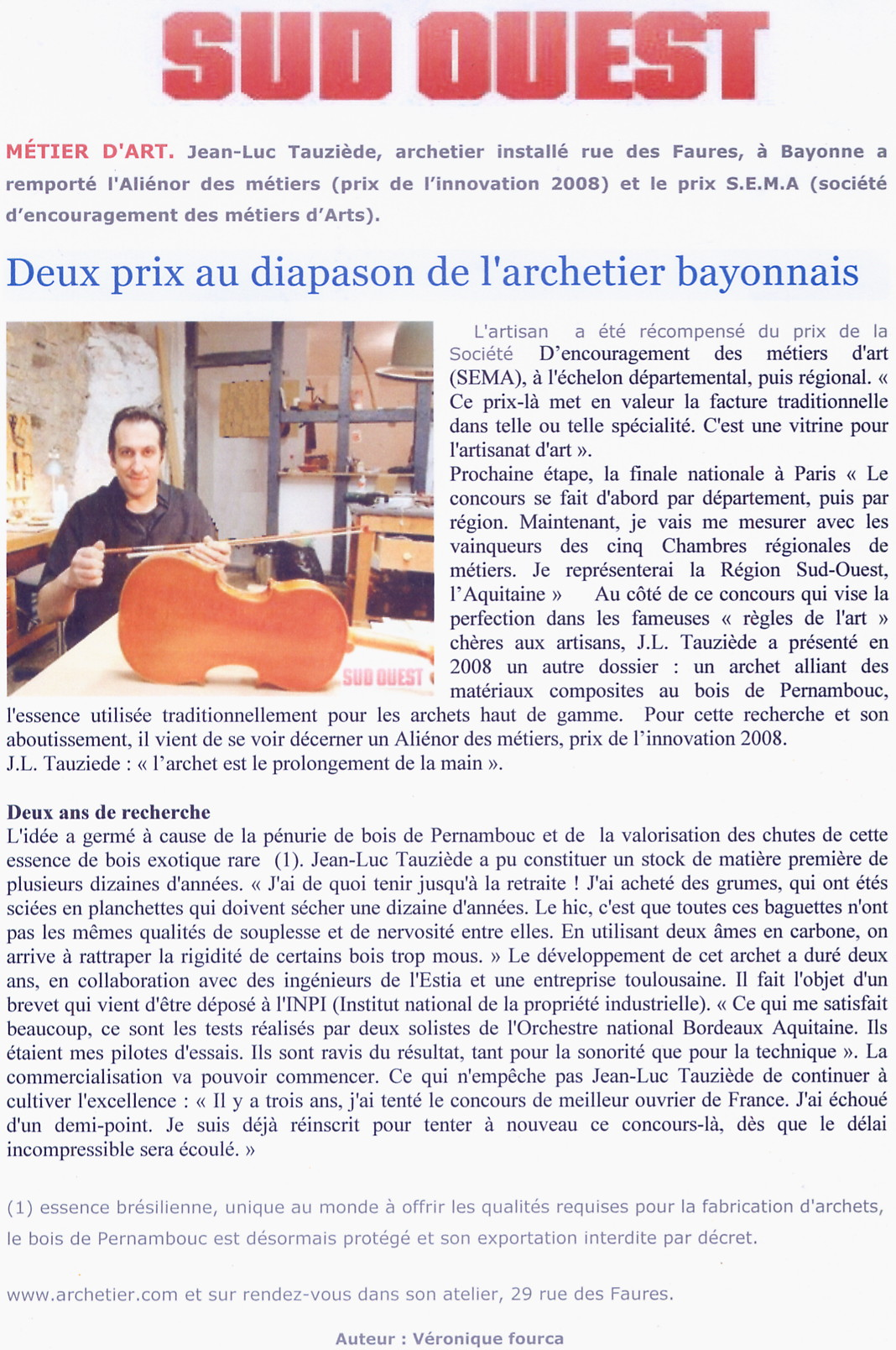 sud ouest article journal